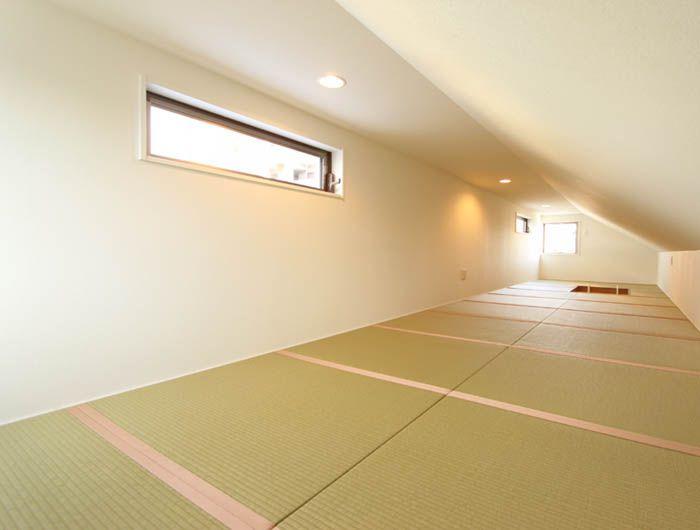 屋根裏部屋スペースは大きな秘密のスペース。