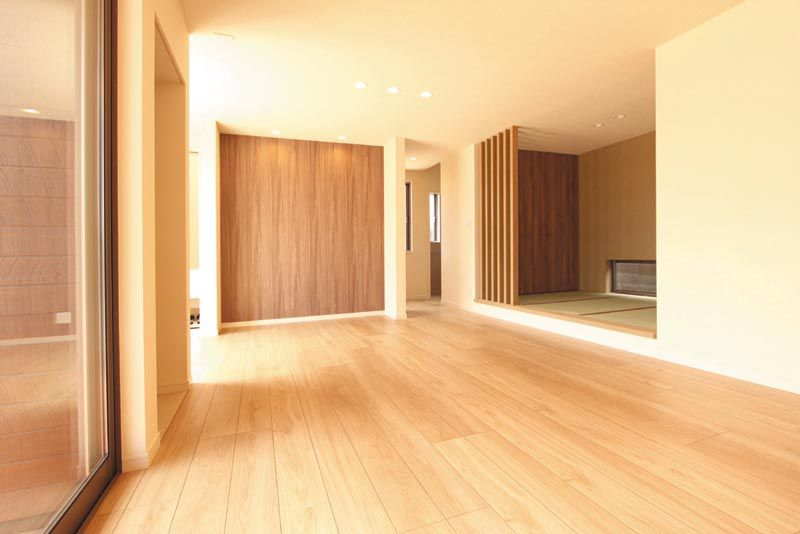 リビングに連続した畳スペースは多目的でご利用いただけます。