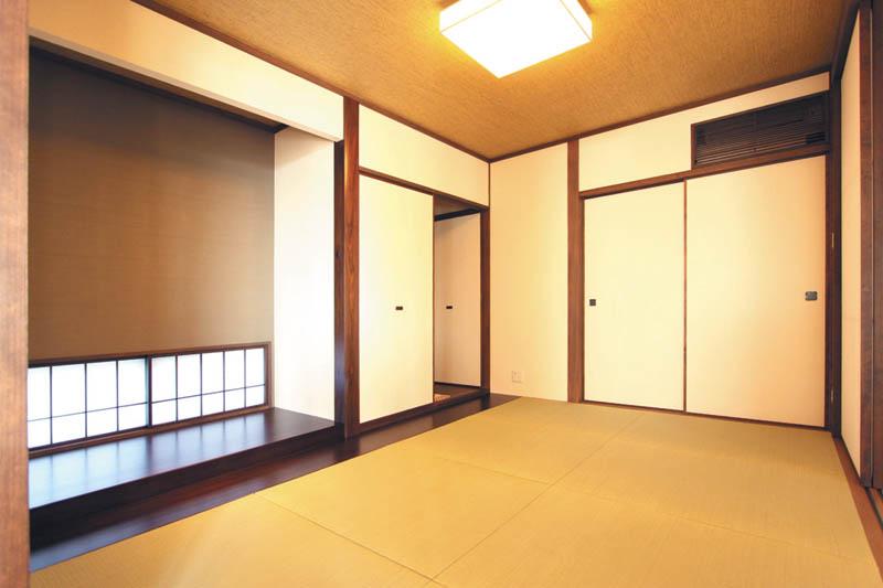 落ち着きを感じる、本格的な和室。